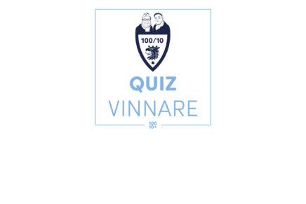 Vinnarna 100/10-quizzet